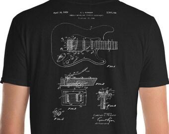 e94a6cb8a0cdb Fender Stratocastor Guitar Tshirt