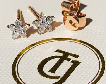 0.28tcw G/SI1 Genuine Diamond 'Star Bright' Earrings 18ct 18k Solid Rose Gold