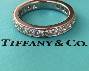 Tiffany & Co. 1.20tcw Diamond Legacy Full Eternity Platinum Ring