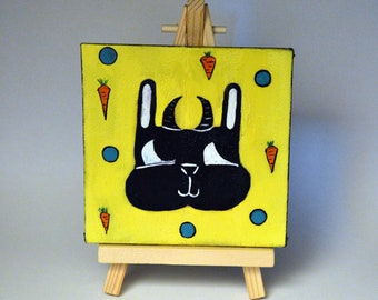 Sweet Little Devil - Limited Edition 4 by 4 Canvas Painting #1/250