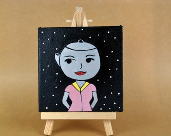 Hot Kettle  - Limited Edition 4 by 4 Canvas Painting #3/250