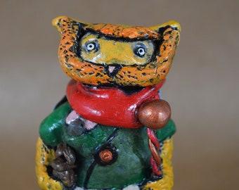 The Weary Traveler - Handmade Polymer Sculpture