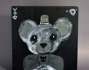 Eyes On Teddy - Painting On Wood