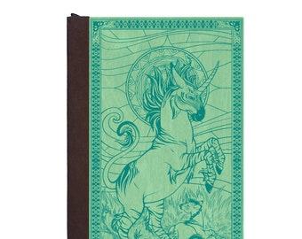 Refillable Book/ Unicorn/ Magnetic Journal/ Writing Journal/ Handmade Book/ Wood & Vegan Leather Book/ Zebra/ Donkey/ Mom and Baby