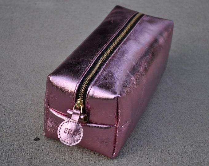 Bridesmaid Gift Customize Leather Dopp Kit Makeup Bag Toiletry Bag Leather Custom Dopp Kit