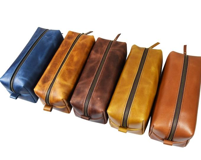 Leather Dopp Kit - Adrian