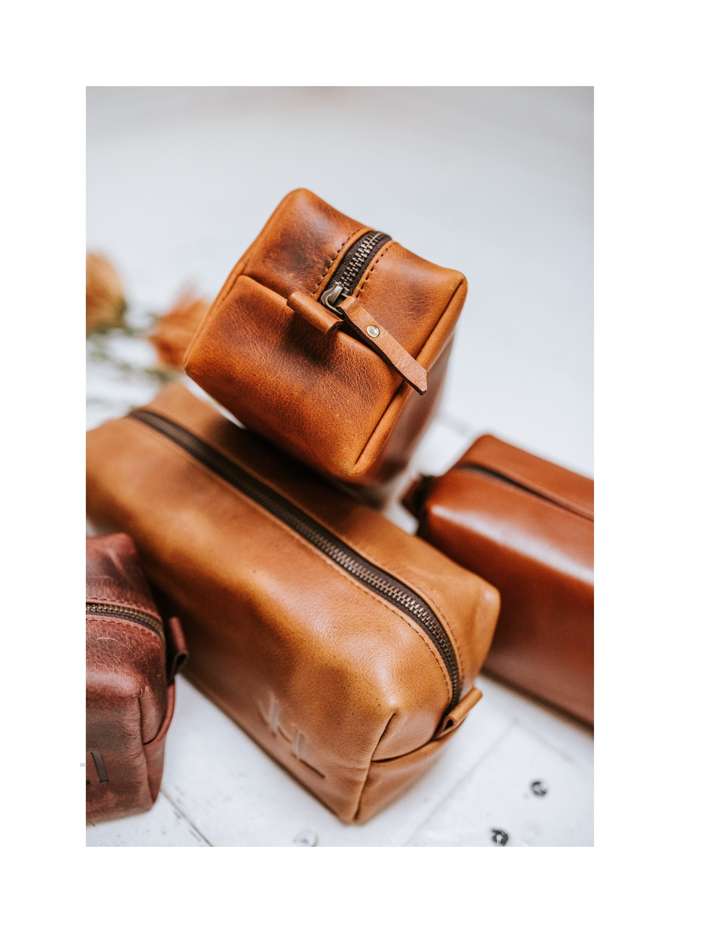 97c572639b63 Leather Dopp Kit Valentine s Gift Groomsmen Gift Customize Leather Toiletry  Bag Men s Leather Third Anniversary Gift Leather Gift