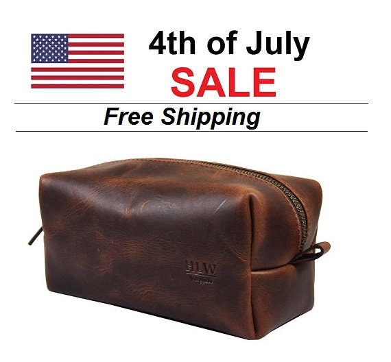 c3075fe85cbe July 4th Sale - Leather Dopp Kit Groomsmen Gift Customize Leather Toiletry  Bag Men s Toiletry Bag Leather Custom Dopp Kit Third Anniversary