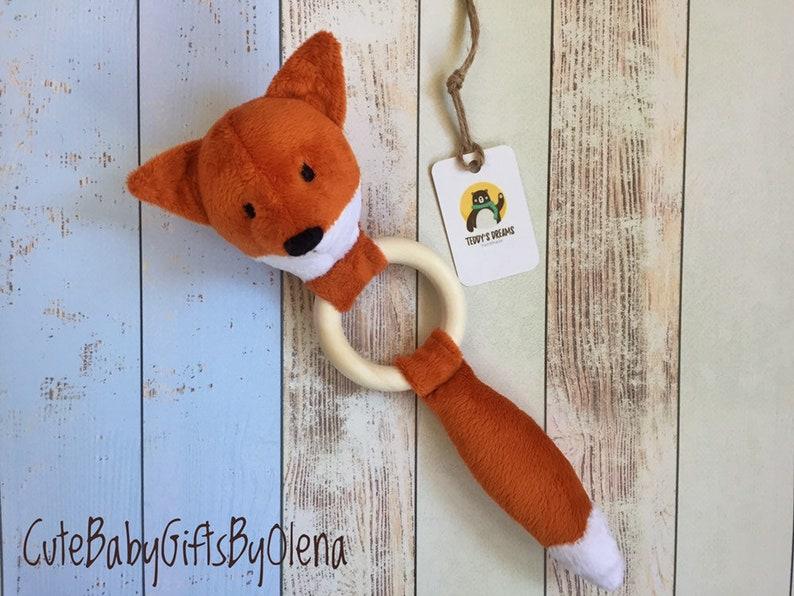 Fox Baby Rattle Plush Toy