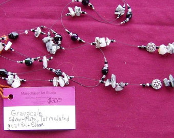 Grayscale Beaded necklace