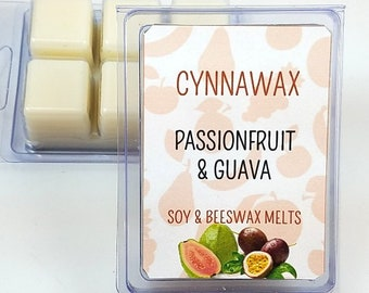 PASSIONFRUIT AND GUAVA Soy & Beeswax Melts