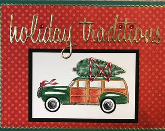Old Fashioned Christmas Card