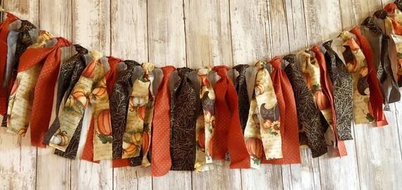 Fall Fabric garland, fall tassel garland, tassel garland, fall garland