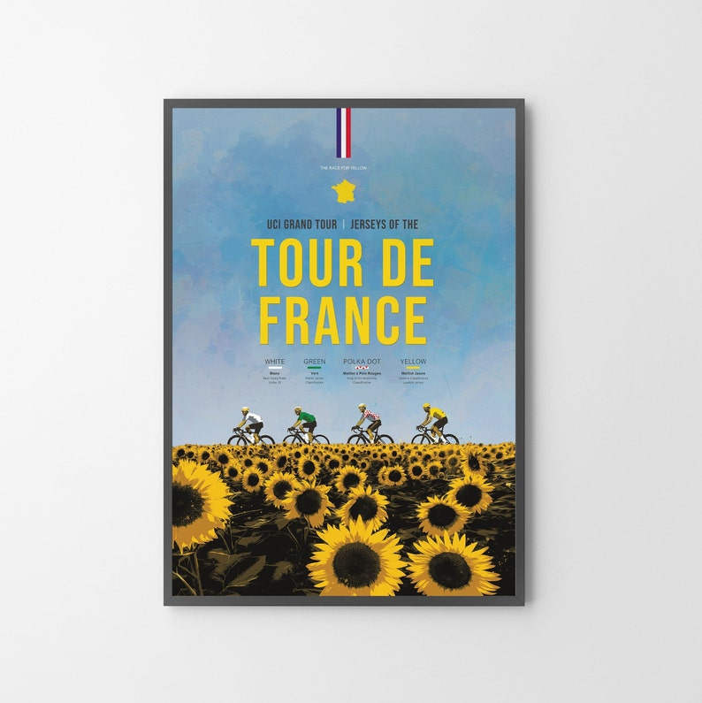 Tour de France Cycling Poster Print  Unframed  a great image 0