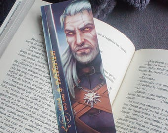 The Witcher bookmark, Geralt of Rivia bookmark, video game bookmark, The Witcher print, Geralt of Rivia print, bookmark paper, page marker