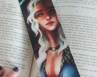 Game of Thrones bookmark, GOT bookmark paper, Daenerys bookmark got, got gift, got readers, Mother of Dragons, GOT Khaleesi, reading books