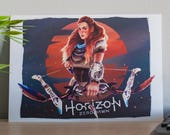 Horizon Zero Dawn art print, Horizon Zero Dawn poster, video game art, Aloy poster, video game poster, Aloy fan art, HZD Aloy, art printed