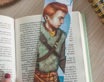 God of War bookmark, Atreus bookmark, video game bookmark, gamer bookmark, God of War print, Atreus print, bookmark paper, page marker book