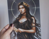 Witch art print, Witch Ta...