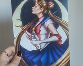 Sailor Moon art print, Sa...
