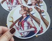 Sailor Moon sticker, Sailor Moon decorative sticker, Sailor Moon sticker laptop, Sailor Moon planner, Bunny Tsukino sticker, Moon Power
