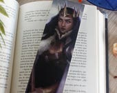 Bookmark paper, bookmark printed, bookmark illustration, book lover gift, bookmark queen, book accessories, gift for readers, book reading