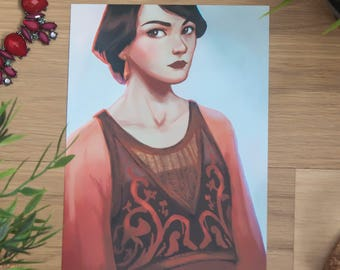 Downton Abbey print, Mary Crawley Downton Abbey, Downton Abbey cards, Downton Abbey gift, Mary Crawley art print, TV series fan art