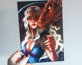 Daenerys print, Game of T...