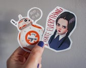 Wednesday Addams sticker,...