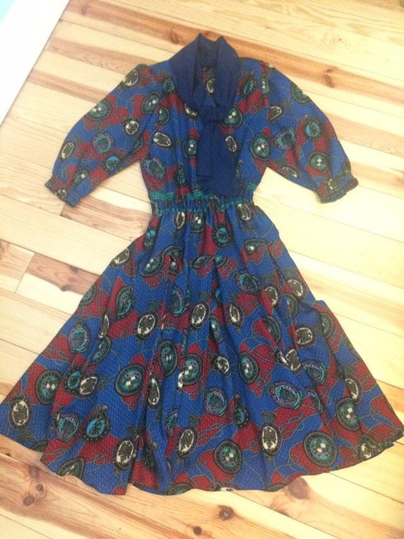 1980's vintage dress. 1980's vintage Diane Freis d