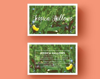 Minimal Elegant Business card | Business Card Design | Pre-made Business card | Branding | Photographer | Blogger | Nature | Feminine design