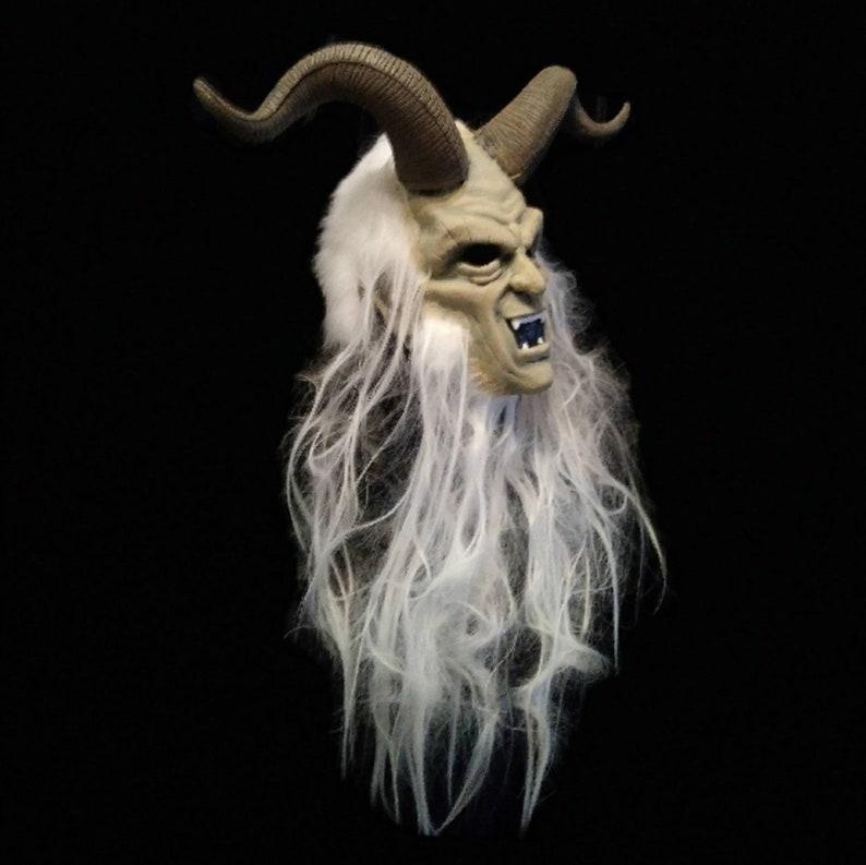 Latex Krampus Half Mask