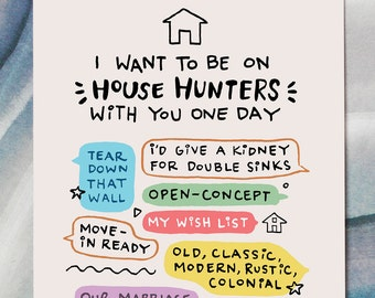 Funny Love Card | House Hunters | HGTV | Funny Card Boyfriend | Girlfriend Husband Wife | Fixer Upper | Funny Valentine's Card | Renovation