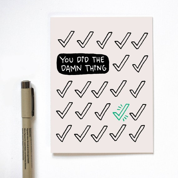 Congrats Graduation Card You Did It Funny Congrats Card Etsy