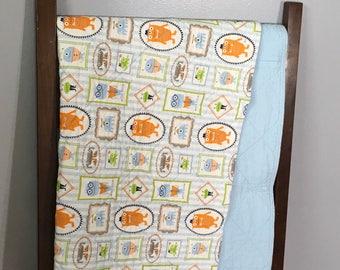 Little monster wholecloth quilt