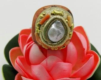 Vegetable Ivory Ring