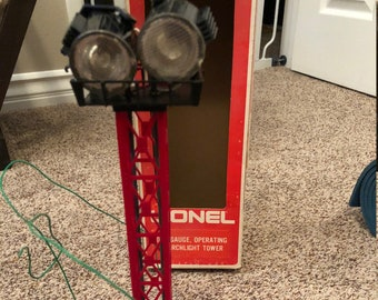 Lionel Train Search Light Tower - 027 gauge - not tested