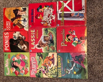 Children's Tell a Tale Books - Vintage Lot of 10