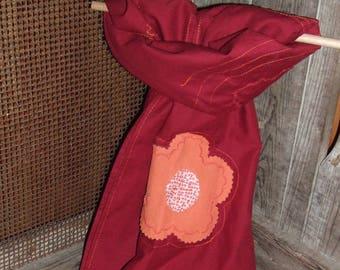 Garnet cotton shawl