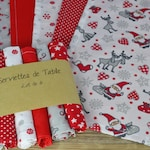 Washable napkins Zero waste - table decoration Christmas