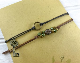 Boho Friendship Bracelets Adjustable Bracelet Bead Bracelet String Bracelet Bohemian Bracelet Hippie Jewelry Bracelet For Friend Gift