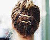 Scissors Clips. Hair Stylist. Hair Dresser. Gold. Silver.
