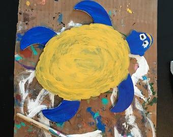 Blue Turtle Painting