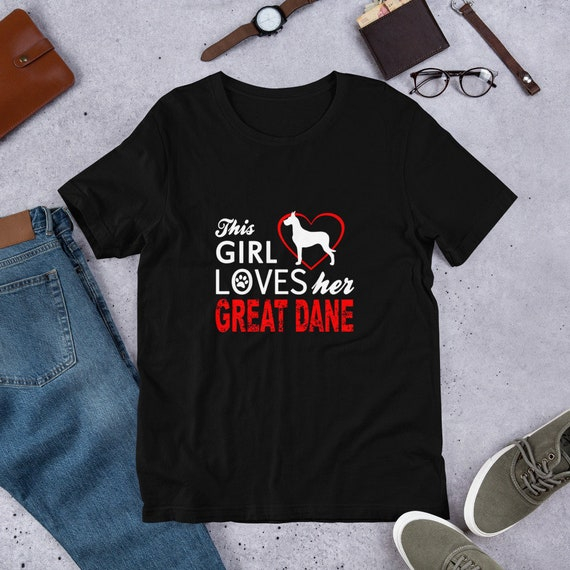 Heartbeat Great Dane Dog Puppy Owner T-Shirt