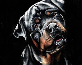 Bernard the Dog Art Print Wall Art Decor