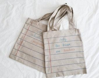 Gifts for teachers, gifts for teachers, teacher bag, cloth bag, tote bag