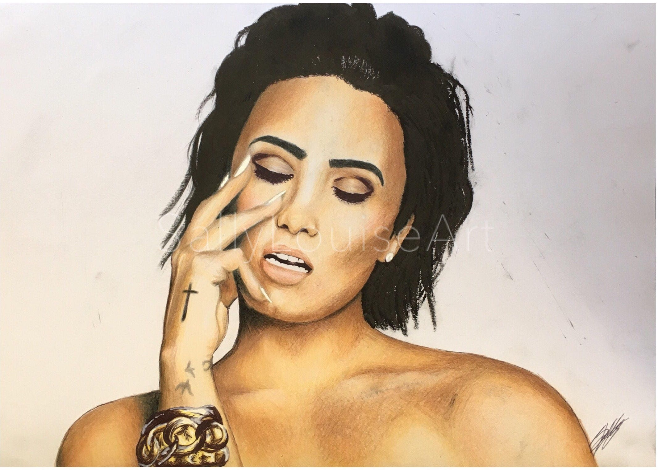 Prints Demi Lovato drawing | Etsy