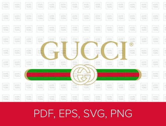 gucci washed inspired logo vector art pdf eps svg png etsy