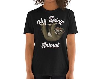 My Spirit Animal is A Sloth 2-6 Years Old Boys /& Girls Short-Sleeved Tee Shirt