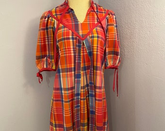 Stay At Home Style Quarantine Chic Housedress Plus Sized Ikat House Dress Sustainable Caftan Life